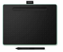 Tablet graficzny Wacom Intuos Pen Bluetooth M (A5) CTL-6100WLEN pistacjowy + 3 programy + kurs obsługi PL. Wypożyczalnia - egzemplarz demo.