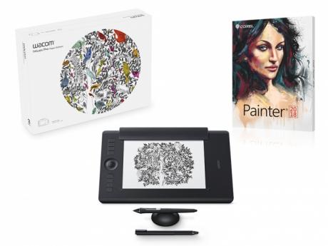 Tablet Wacom Intuos Pro Medium Paper + Corel Painter 2018