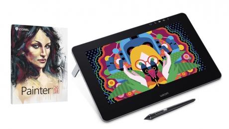 Tablet LCD Wacom Cintiq Pro 13 + Corel Painter 2018