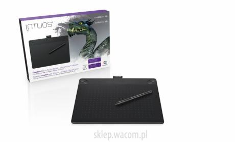 Tablet graficzny Wacom Intuos 3D M (A5) CTH-690TK czarny + ZBrushCore® + kurs obsługi PL