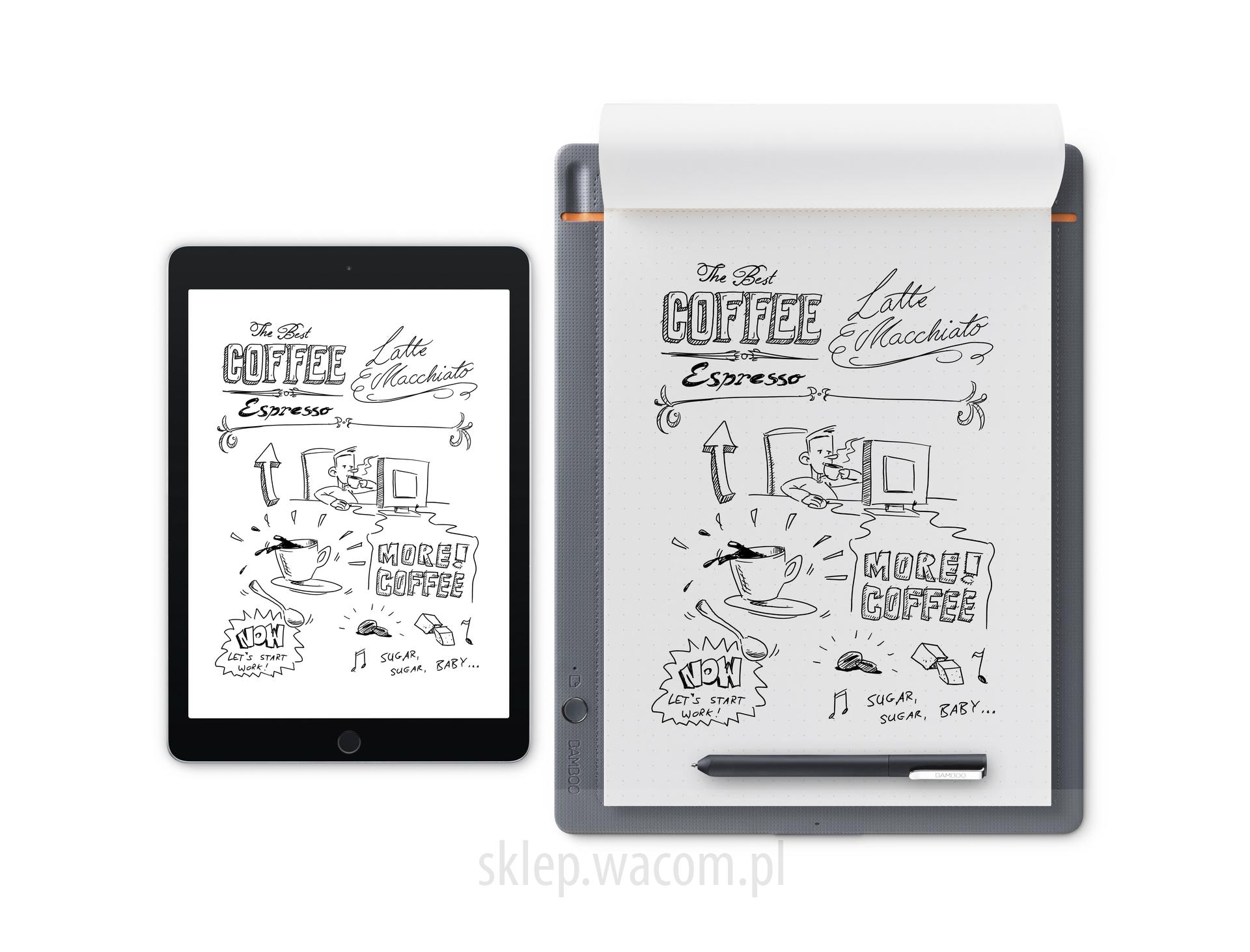 Cyfrowy notatnik Bamboo Slate A4 CDS-810S